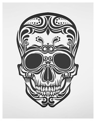 skull (b.media) Tags: art illustration vintage skeleton skull design graphics graphic drawing teeth curves latvia vector riga microstock bmedia