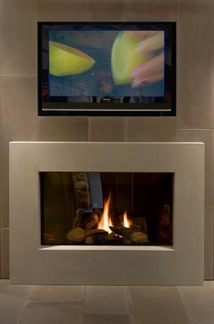 Gaile guevara modern fireplace solus decor - Modern fire surround ideas ...