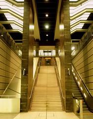 Gesundbrunnen (Maren Winkler) Tags: wedding berlin stairs germany escalator bahnhof treppe trainstation commuting deserted rolltreppe gesundbrunnen ausgestorben waywaytooearly everydecentpersonshouldstillbeinbedatthattimeofday