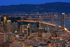 City of Lights (A Sutanto) Tags: sf sanfrancisco california ca city longexposure urban usa skyline architecture america skyscraper buildings lights twilight downtown view dusk scenic lookout hills twinpeaks baybridge eastbay soma sfbay southofmarket platinumphoto onerincon