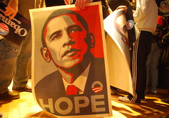 Hope - Obama (Shepard Fairey poster) (Steve Rhodes) Tags: sanfrancisco art church poster election politics rally obey commons mission fairey february obeygiant 2008 campaign obama shepardfairey shepard culturejamming churchst election2008 sfist feb2 barackobama campaign2008 february2nd everettmiddleschool obama2008 supertuesday election08 obama08 campaign08 sanfranciscoforobama 2february2008obama obamahope obamahopeposter shepardfaireyobama shepardfaireyobamaposter shepardfaireyobamahopeposter