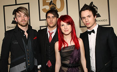 Paramore Red Carpet Grammy Awards (musicxcharts) Tags: red music hair carpet riot williams jeremy josh business zac misery grammy hayley paramore crushcrushcrush