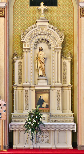 Saint Peter Roman Catholic Church, in Saint Charles, Missouri, USA - altar of Saint Jospeh