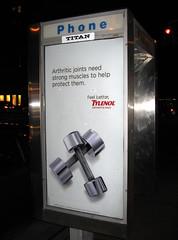 newyork advertising manhattan weights feelbetter greenwichvillage tylenol feelbettertylenol arthriticjointsneedstrongmusclestohelpprotectthem arthritispain