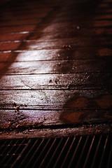 It's not all dark. (Chris Beauchamp) Tags: street night cool warm cement sidewalk copyrightchrisbeauchamp20072009