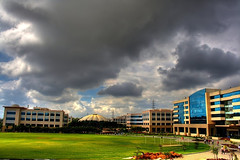 This is where I work! (~ a r u n) Tags: india canon campus dc scenic 1855mm hyderabad infosys hdr arun 400d sevakule