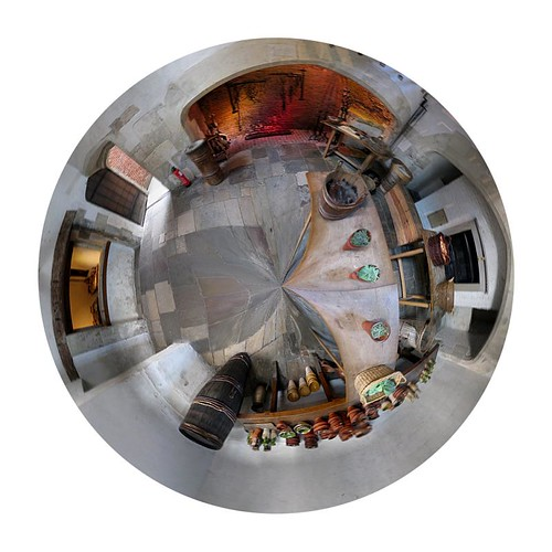 polar panorama of Baden-Powell kitchen
