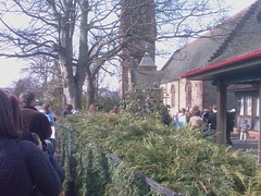 Queueing at the NCT Nearly New Sale - by digitalkatie