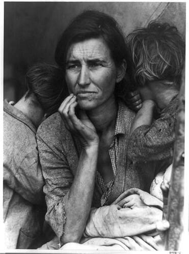 Madre Migrante por Dorothy Lange