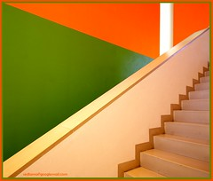 new colours !! (sediama (break)) Tags: orange green stairs germany treppe staircases escaleras treppenhaus mywinners sediama colourartaward theperfectphotographer bysediamaallrightsreserved