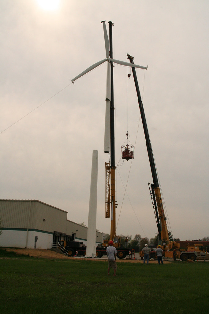 Installing a wind turbine @ The Time Factory