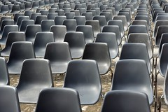 Audience (mikael_on_flickr) Tags: audience spettatori sedie chairs empty vouto modena emiliaromagna ripetizione repetition pattern grey gray grau grå grigio gris