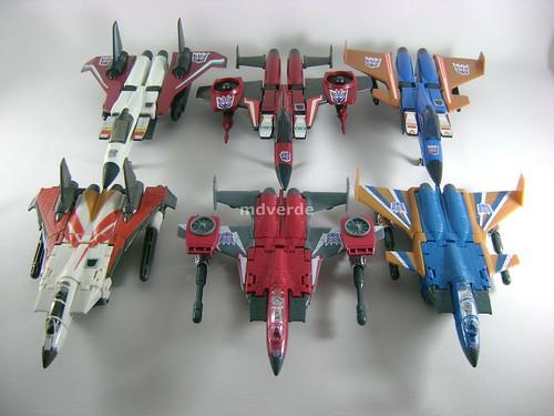 Transformers Thrust Classic Henkei vs Dirge vs Ramjet vs G1 - modo alterno