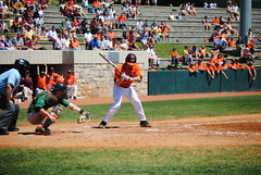 JUST A LITTLE LOW. (SneakinDeacon) Tags: acc baseball miami ncaa vt hurricanes blacksburg virginiatech hokies englishfield