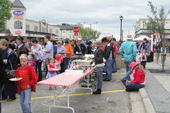 McKenzie Towne Stampede Breakfast on High Street Line up for Breakfast