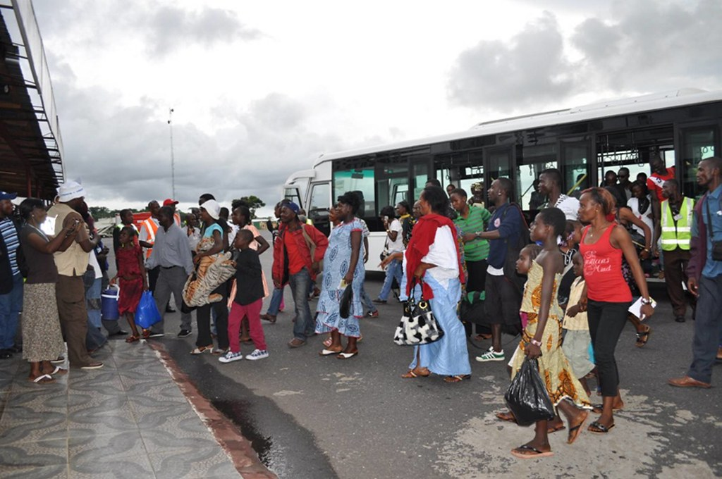 UNHCR News Story: Stranded Liberian refugees return home from Côte d'Ivoire