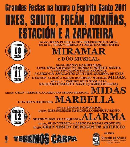 Arteixo 2011 - Festas de Uxes - cartel
