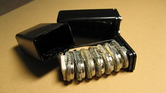 電池開腸剖肚 (Cujan) Tags: battery block r22 9volt 電池 rechargeable nimh 9v pp3 hydride 鎳氫電池 充電電池 nickelmetal ニッケル・水素蓄電池 9v形 006p型