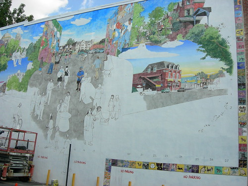 David Guinn's Baltimore Ave. mural in progress