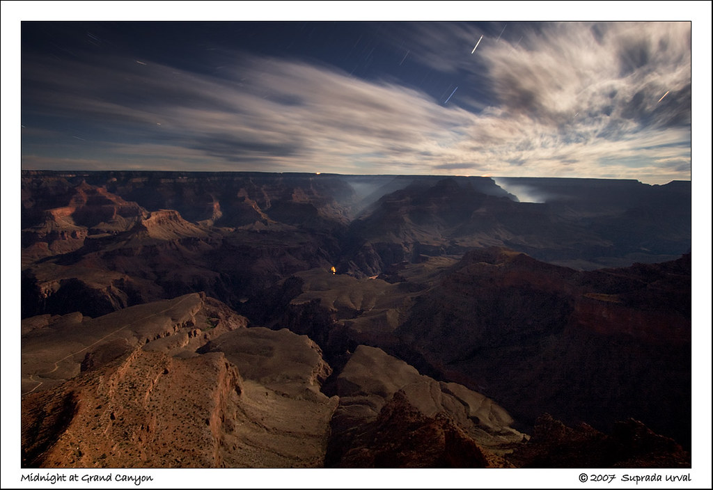 Midnight at Grand Canyon