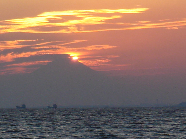 Silhouette of Mt. Fuji