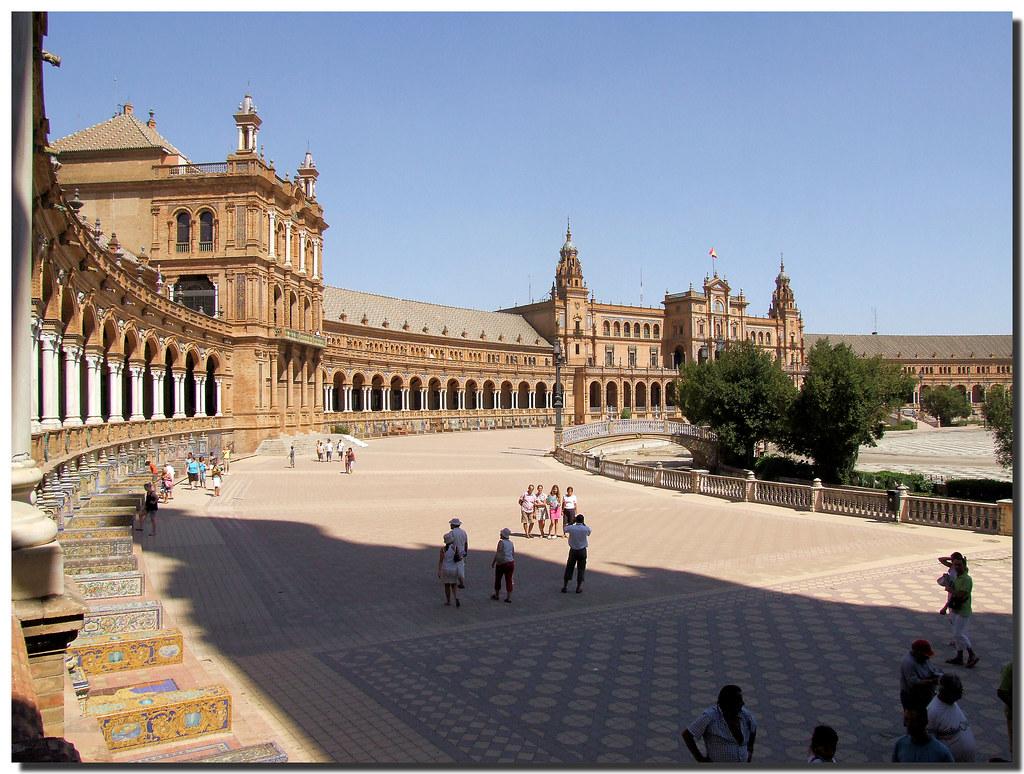Photo d'Andalousie n°6. La Plaza de España à Séville