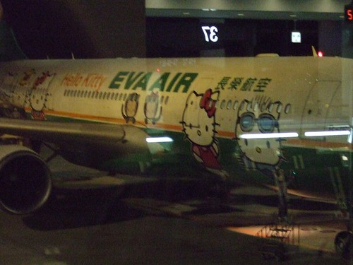 """Hello Kitty"" plane"