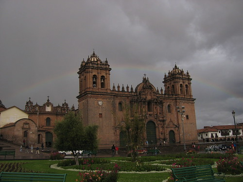 Rainbow at Plaza de Armas