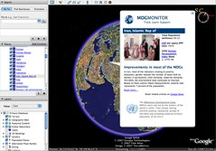 Google Earth with MDG layer