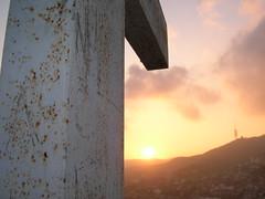 """Puesta de sol desde """"Parc de la Creueta del Coll¨(Barcelona)"""