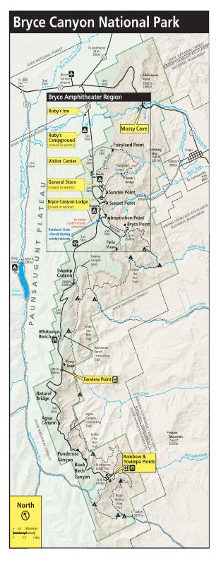 Bryce Canyon National Park | Map & Directions | Lodging ...