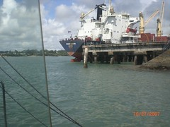 The cargo dock at Likoni