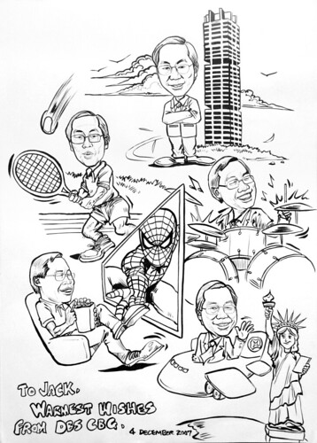 Caricatures DBS pen and ink