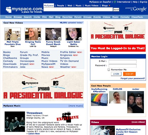 Fake MySpace Site