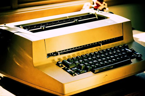 Kickin' It Old Skool - an IBM Selectric typewriter at the Stayton Public Library in Stayton Oregon