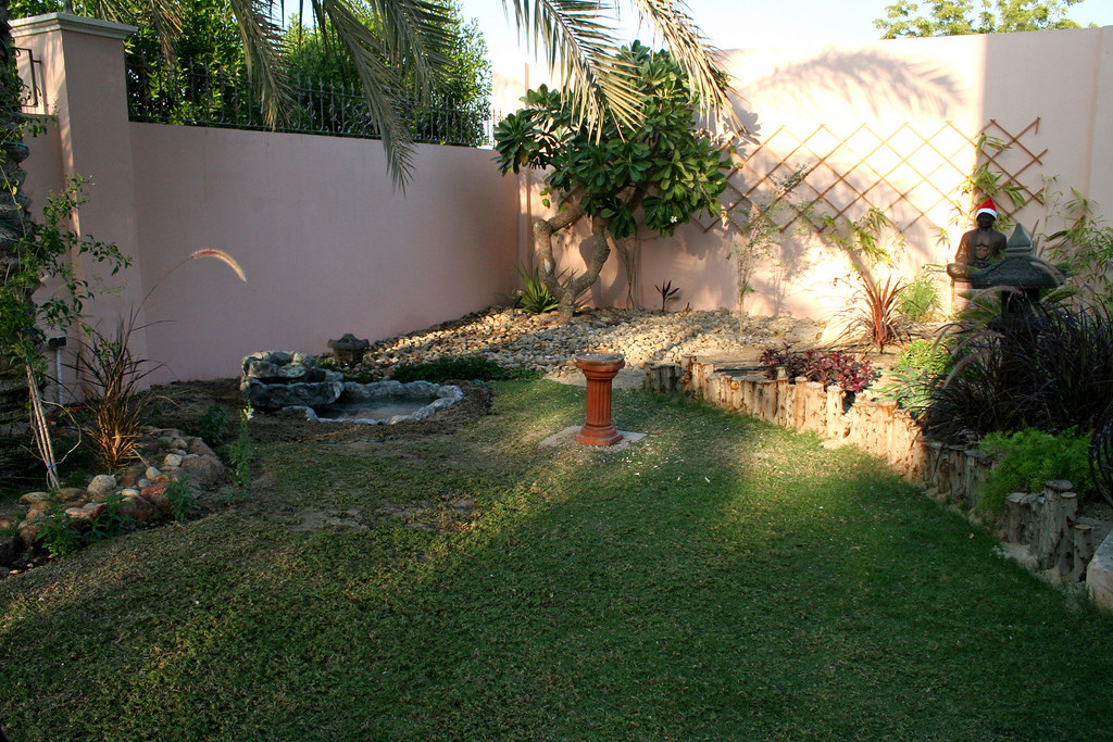 The Oriental Patch's water feature