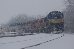 Kittredge.... (ICE_6418) Tags: snow ice trains blizzard dme railroads kittredge chicagosub mcchu