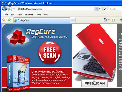 Get a Free Scan of your registry