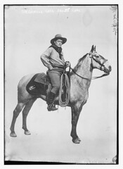 Sir Genille Cave Brown Cave  (LOC) (The Library of Congress) Tags: england blackandwhite bw horse brown english hat army caballo cowboy salvationarmy boots random kitsch rope mount mounted western rodeo lf british cave libraryofcongress whitebackdrop bandana sir author rider salvat