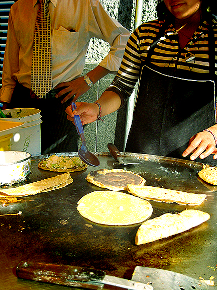 Quesadillas in Mexico City
