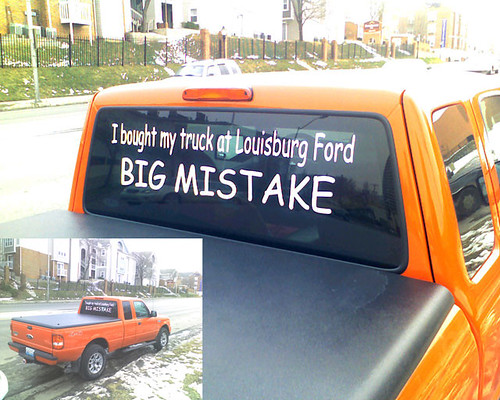I bought my truck at Louisburg Ford BIG MISTAKE