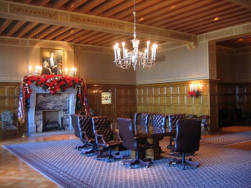 Governor's Reception Room. Arkansas State Capitol. Little Rock. Arkansas.USA.December 2007