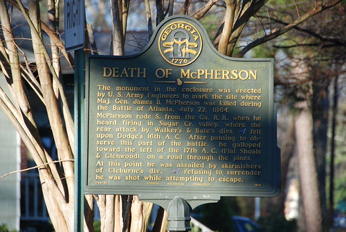 Death of McPherson - McPherson Monument