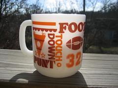Glasbake Football Mug 2 (Jade-Li) Tags: vintage mug glasbake