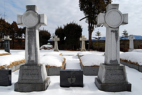 Graves of Bishop Thomas Quinlan & Bishop Thomas Stewart, Jungnim-dong Cathedral