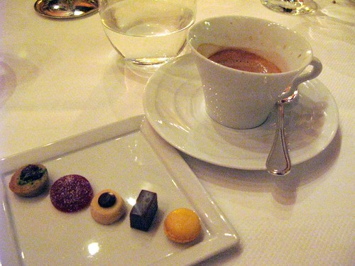 mignardise and espresso at Le Bernardin