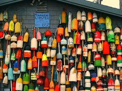 lobster buoys, Provincetown (Pilgrim on this road - Bill Revill) Tags: provincetown capecod lobster buoys ptown buoyant townsendlobster