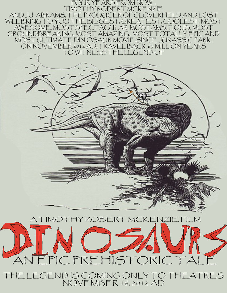 Dinosaurs: An Epic Prehistoric Tale: Announcement Poster copy