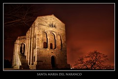 Santa Maria del Naranco (Cesar Sampedro) Tags: santa sky espaa tree stone night digital sunrise canon arbol eos 350d noche reflex spain maria asturias cielo oviedo alto hdr anochecer piedra dinamico naranco prerromanico rango cesarsampedro