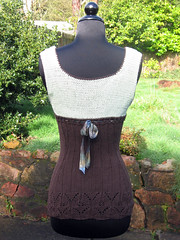 Finished top - back